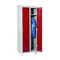 SWED 2 Red/Grey, locker 2door