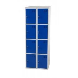 Förvaringsskåp, blå/grå 8-fack