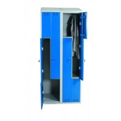 Klädskåp, blå/grå 4 d/Z-model