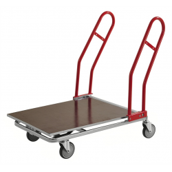 Volymvagn Trä, röda handtag 1170x700x980