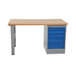 Arbetsbord med hurts 5 lådor 1600 mm Board