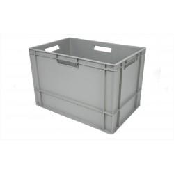 Plastlåda 600x400x400 mm 76 L Tät med handtag