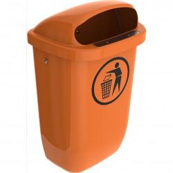 Papperskorg 50 L Orange Classic